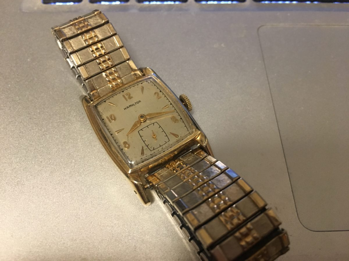 Hamiltonの腕時計を手に入れた